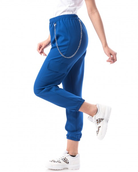 Pantaloni Dama 8159 Albastru Adrom