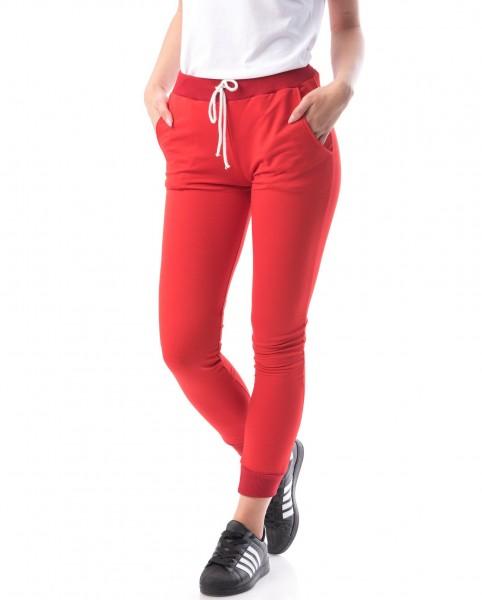 Pantaloni Dama 8161 Rosu Adrom