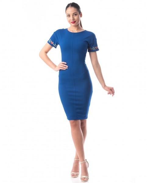 Rochie Dama R867 Albastru Adrom