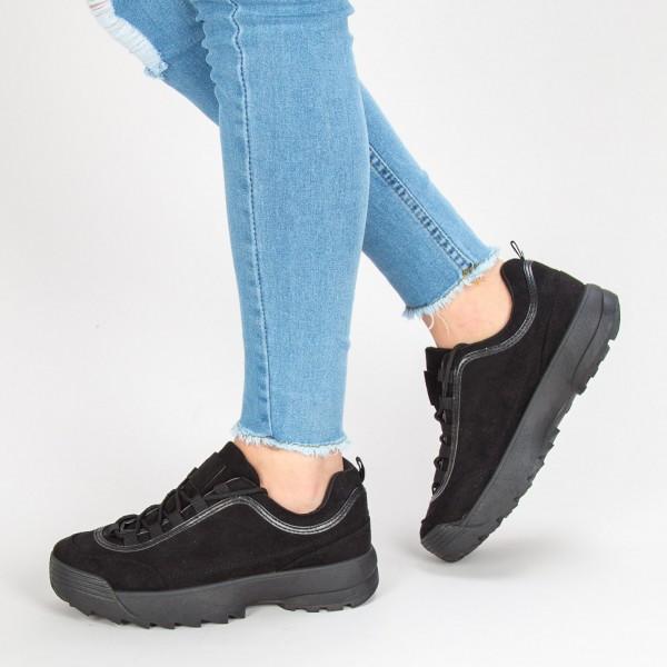 Pantofi Sport Dama B6837 Black Sport Fashion