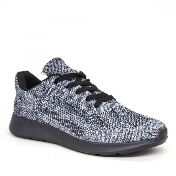 Pantofi Sport Barbati 31558-6 Black-White Kiss Gogo