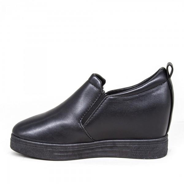 Pantofi Sport Dama cu Platforma 609 PSDP All Black Sport Fashion