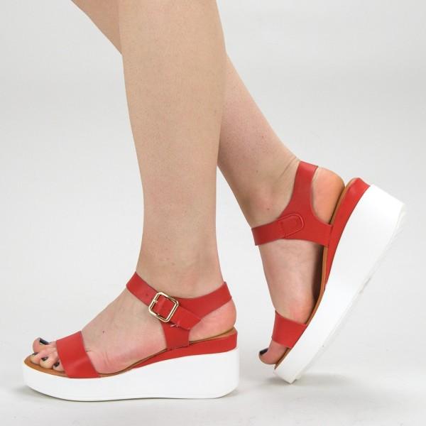 Sandale Dama cu Platforma QZL222 Red Mei