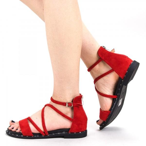 Sandale Dama QZL229 Red Mei