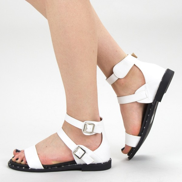 Sandale Dama QZL232 White Mei
