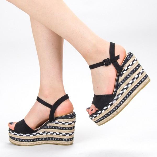 Sandale Dama cu Platforma YBS22 Black Mei