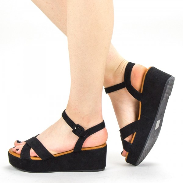 Sandale Dama cu Platforma YBS28 Black Mei
