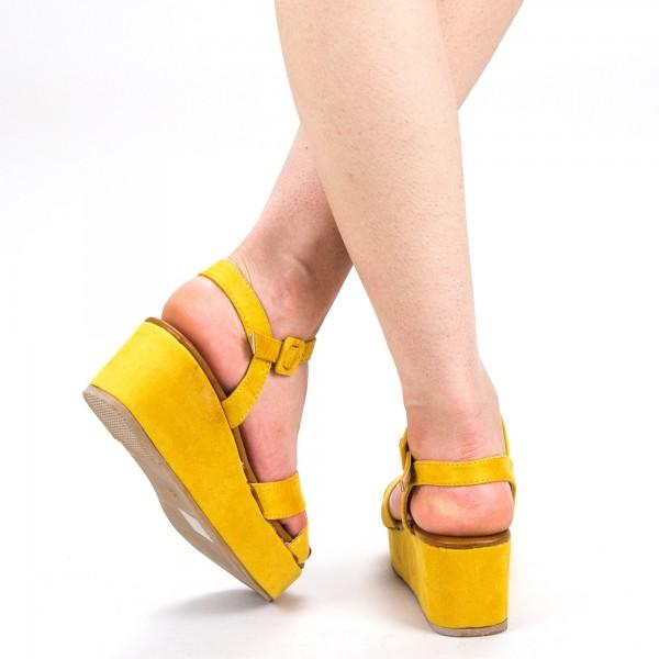 Sandale Dama cu Platforma YBS28 Yellow Mei