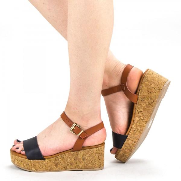 Sandale Dama cu Platforma YBS29 Black Mei