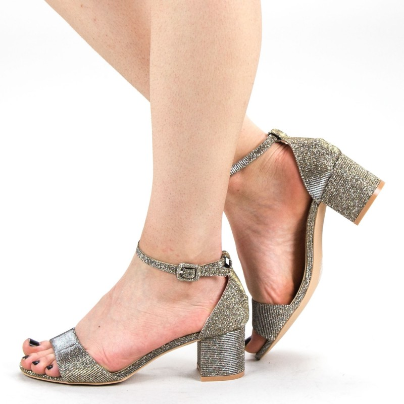 Sandale Dama cu Toc YBS37A Gold Mei