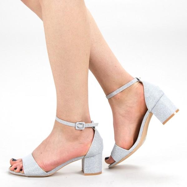 Sandale Dama cu Toc YBS37A Silver Mei