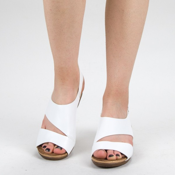Sandale Dama FD52 White Mei