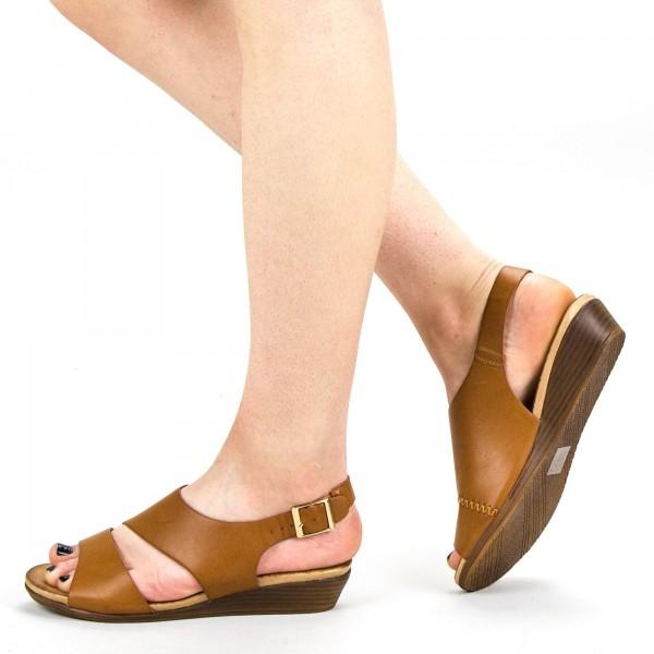 Sandale Dama FD52 Camel Mei