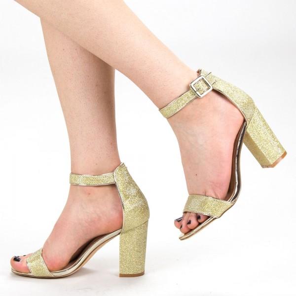 Sandale Dama cu Toc KV23A Gold Mei