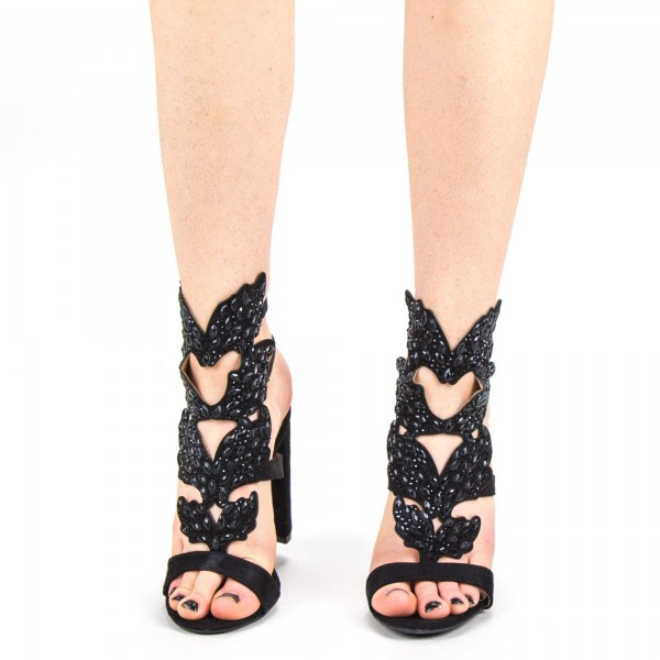 Sandale Dama cu Toc KV20 Black Mei