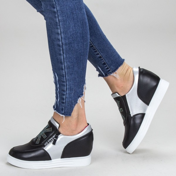 Pantofi Sport Dama cu Platforma 612 PSDP Black Mei