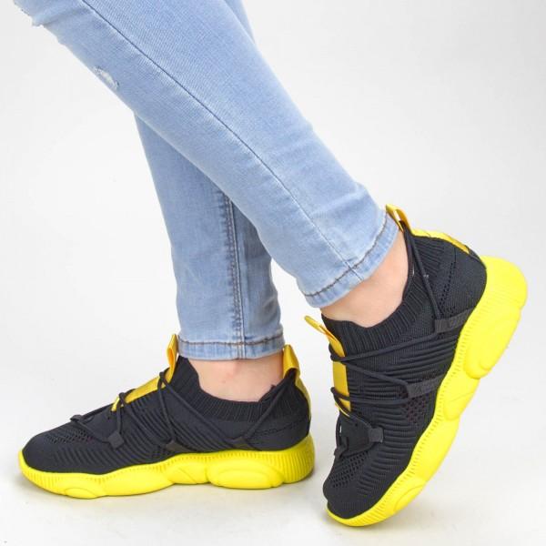 Pantofi Sport Dama YQ50 Black-yellow Mei