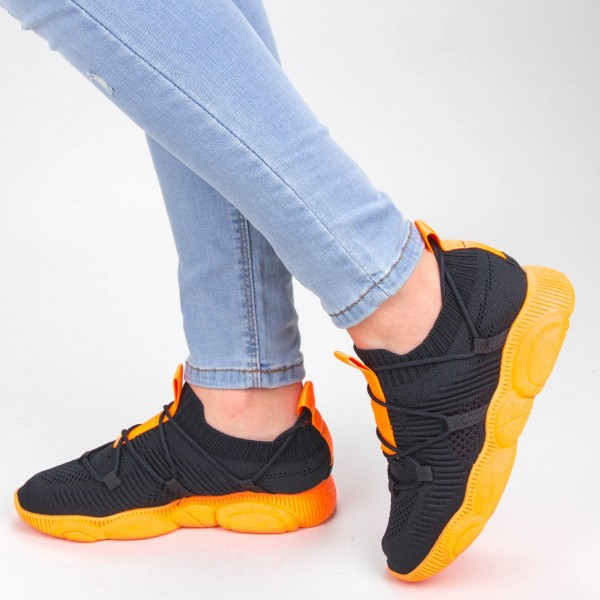 Pantofi Sport Dama YQ50 Black-orange Mei
