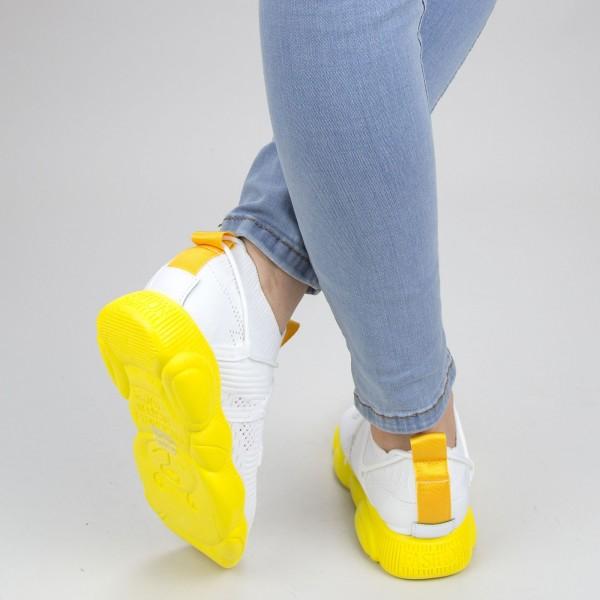 Pantofi Sport Dama YQ50 White-yellow Mei