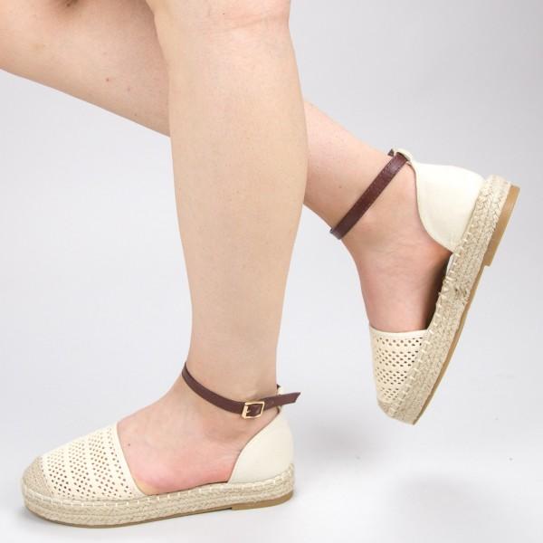 Pantofi Casual Dama QZL278 Beige Mei