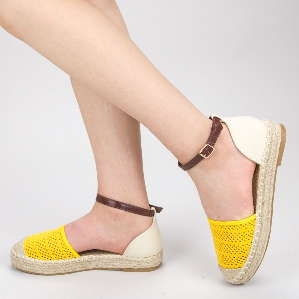 Pantofi Casual Dama QZL278 Yellow Mei