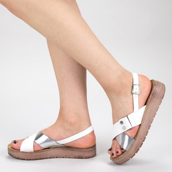 Sandale Dama CS27 White Mei