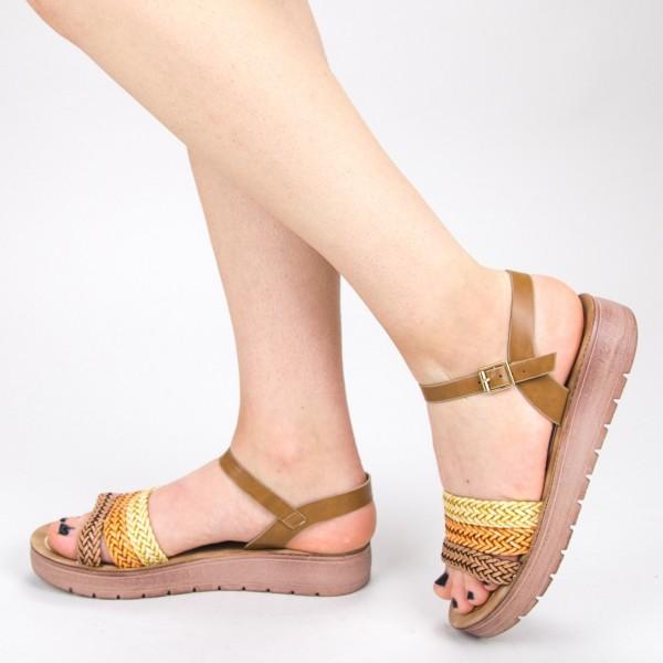 Sandale Dama CS28 Camel Mei