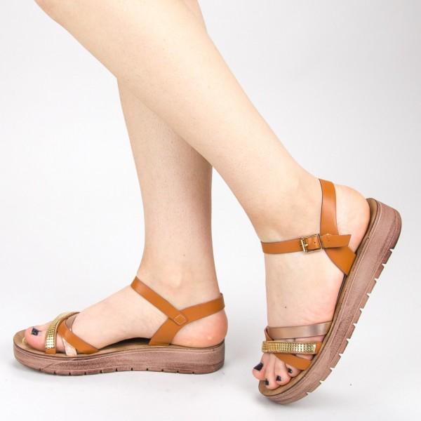 Sandale Dama CS29 Camel Mei