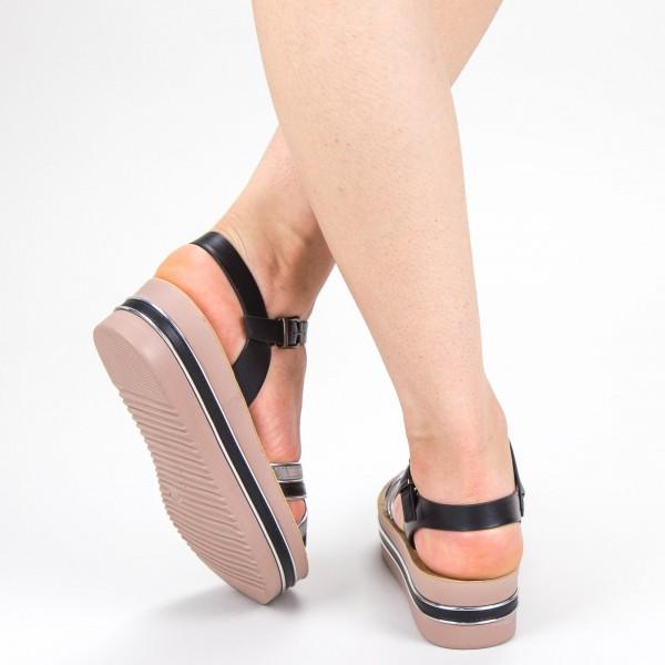Sandale Dama cu Platforma CS21 Black Mei