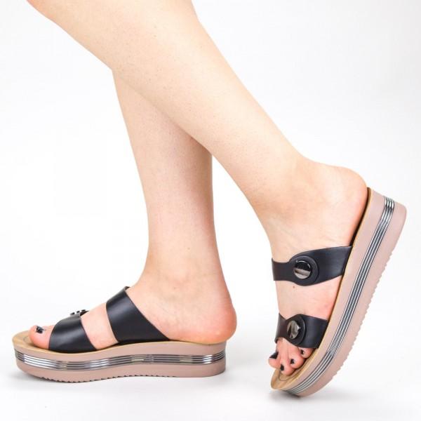 Sandale Dama cu Platforma CS23 Black Mei