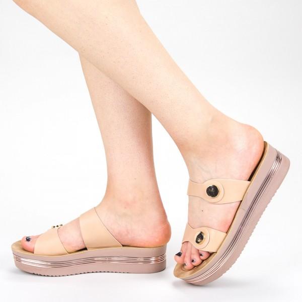 Sandale Dama cu Platforma CS23 Pink Mei