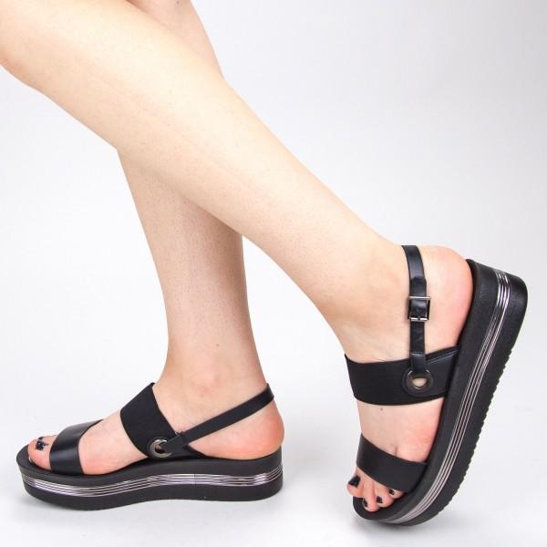 Sandale Dama cu Platforma CS25 Black Mei
