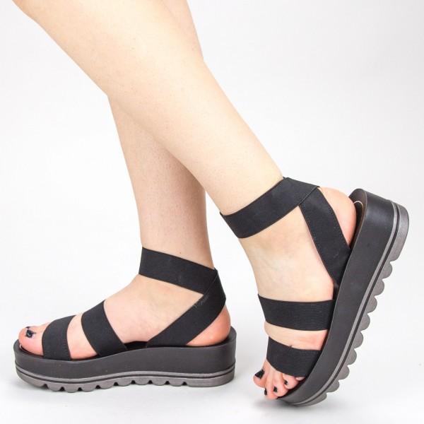 Sandale Dama cu Platforma CS26 Black Mei
