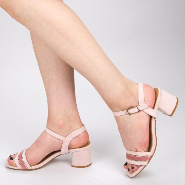 Sandale Dama cu Toc CS62 Pink Mei