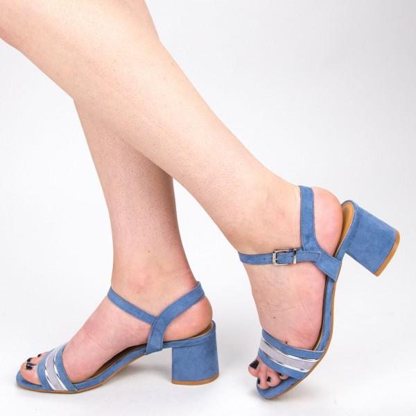 Sandale Dama cu Toc CS62 Blue Mei
