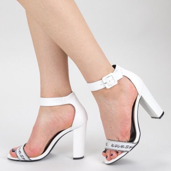 Sandale Dama cu Toc GH113 White Mei
