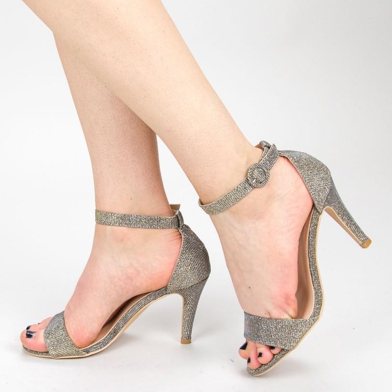 Sandale Dama cu Toc YBS38A Gold Mei