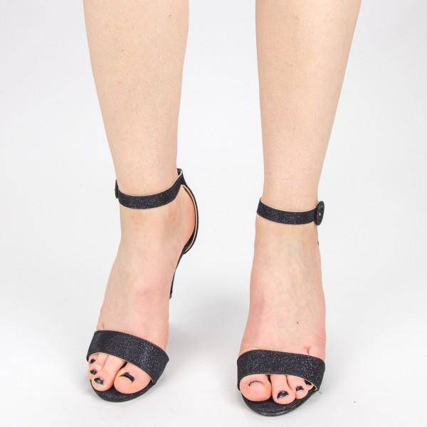 Sandale Dama cu Toc YBS38A Black Mei