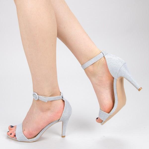 Sandale Dama cu Toc YBS38A Silver Mei