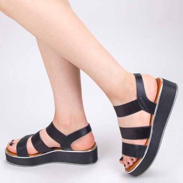 Sandale Dama cu Platforma WS153 Black Mei