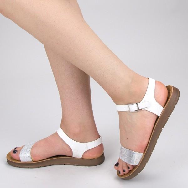 Sandale Dama WS107 White Mei