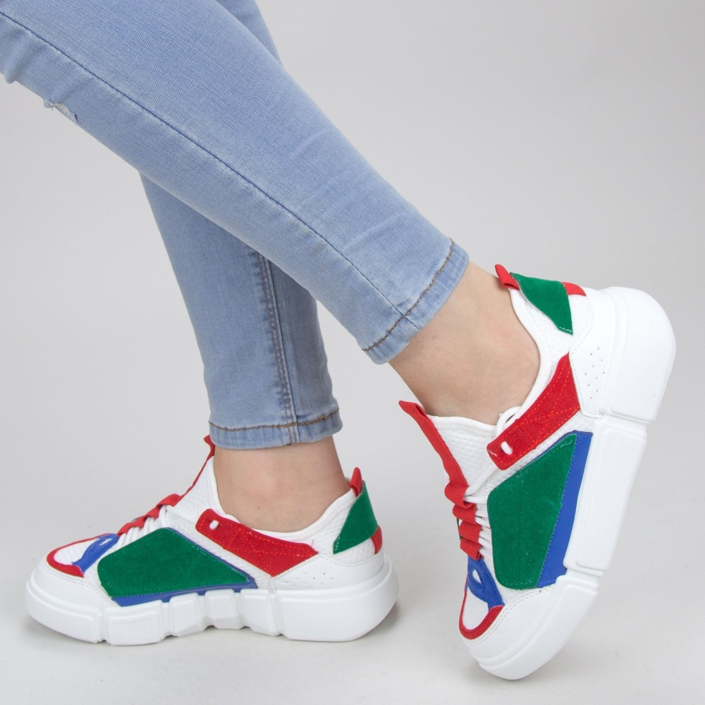 Pantofi Sport Dama YKQ68 White Mei