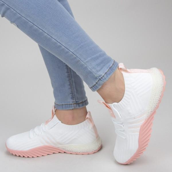 Pantofi Sport Dama YKQ70 White-pink Mei