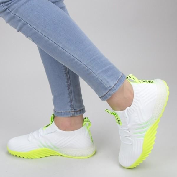 Pantofi Sport Dama YKQ70 White-green Mei