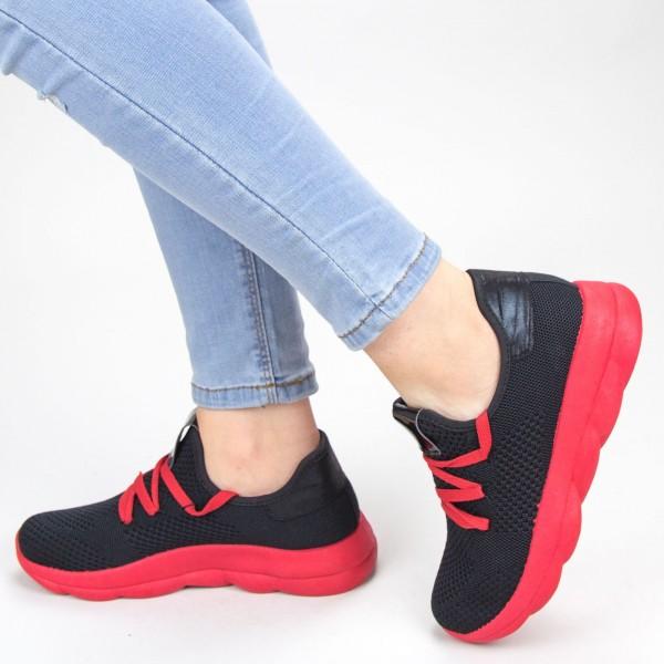 Pantofi Sport Dama YKQ71 Black-red Mei