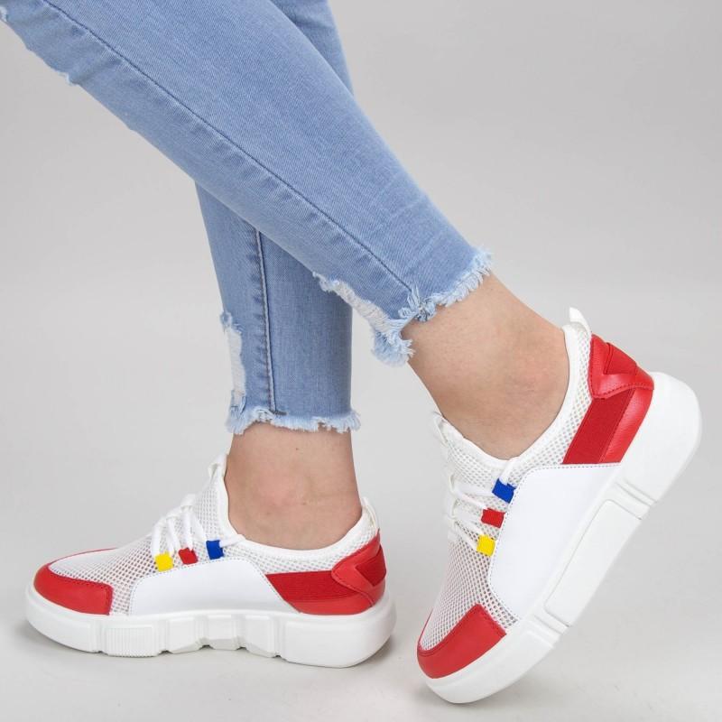 Pantofi Sport Dama GB73 White-red Mei