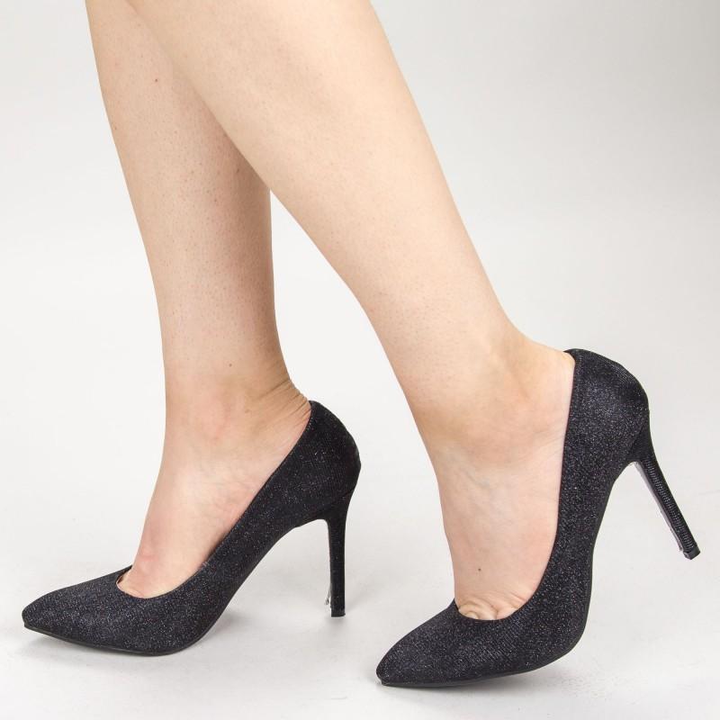 Pantofi cu Toc XKK05 Black Mei