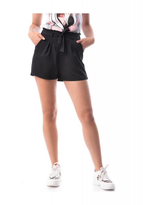 Pantaloni Scurti Dama PANTALON F136 Negru Adrom