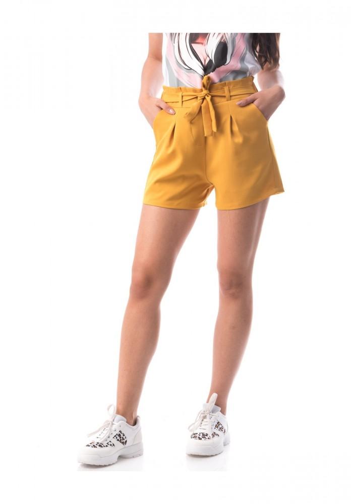 Pantaloni Scurti Dama PANTALON F136 Galben Adrom