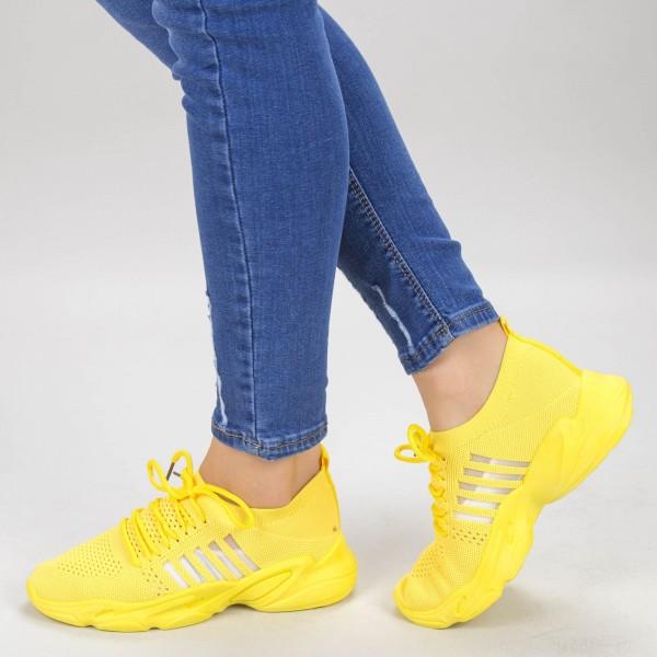 Pantofi Sport Dama YQ58 Yellow Mei